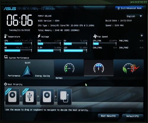 Приклад EFI на Asus P8P67 Deluxe