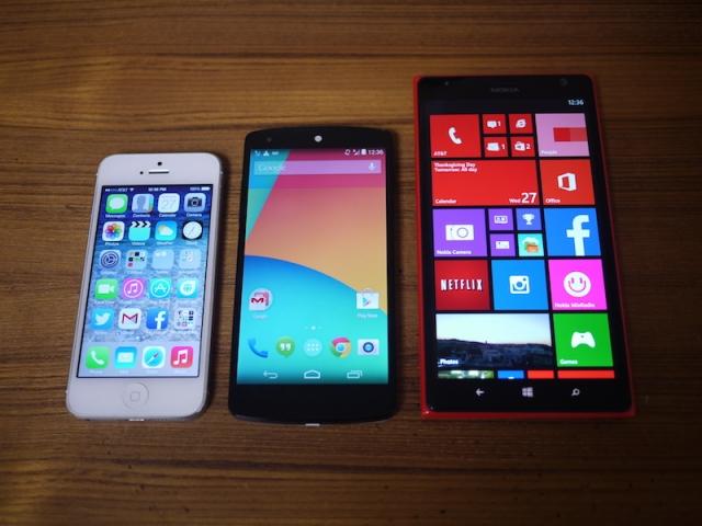 Порівняння Lumia 1520 з iPhone і nexus 5