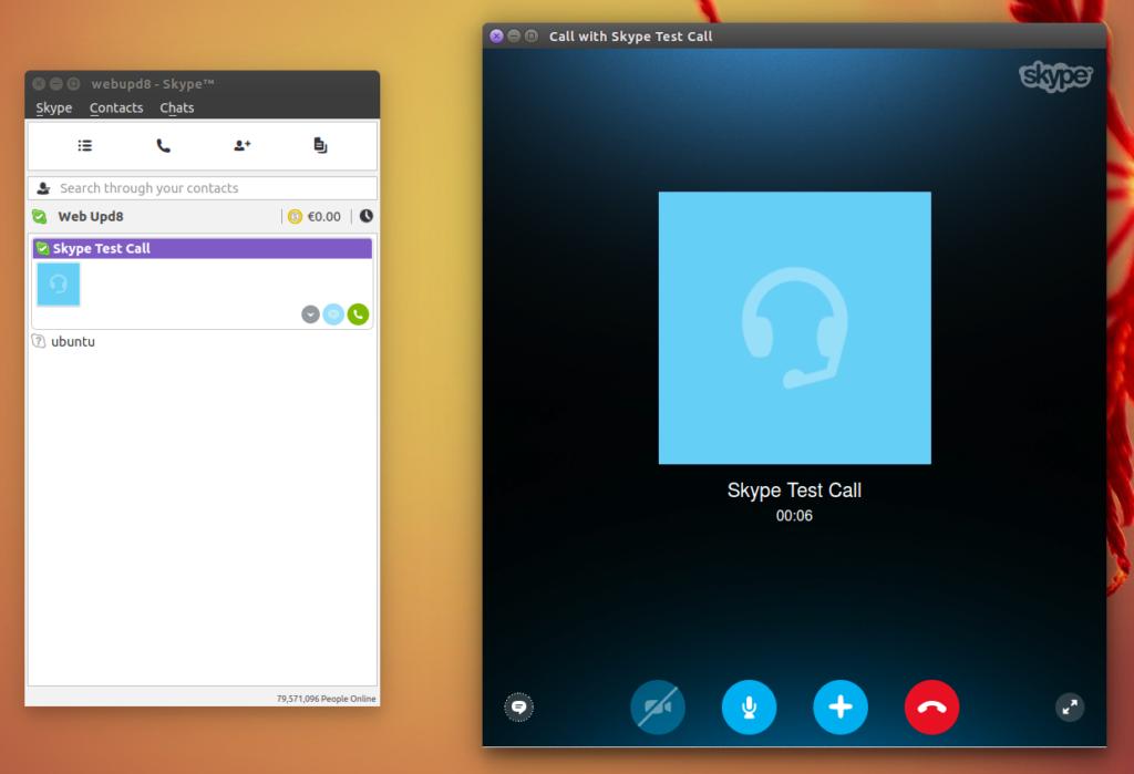 Ось як нікчемно виглядає Skype 4.3 для Linux
