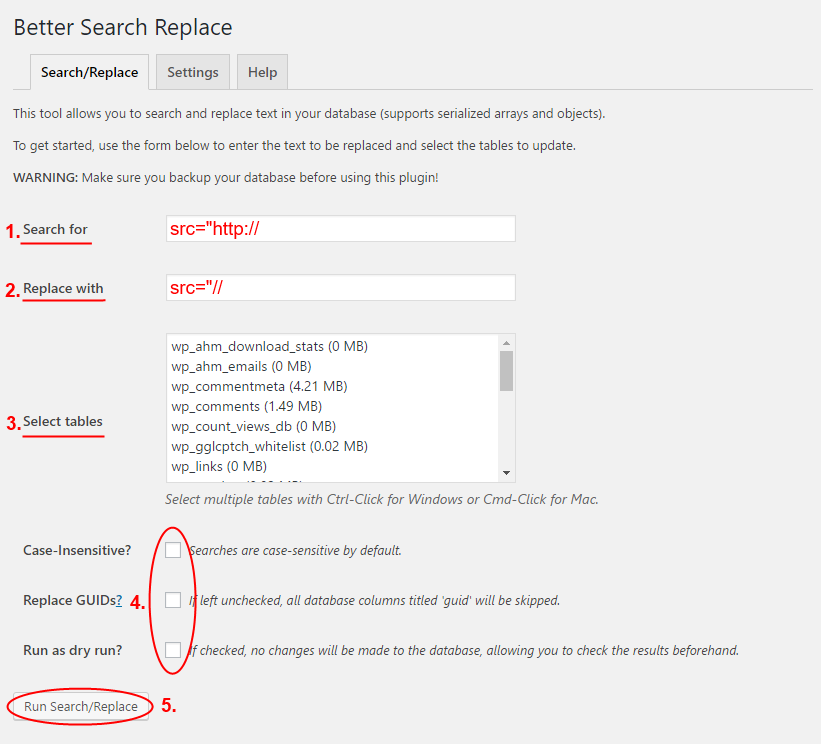 beter search replace on wordpress